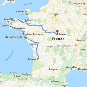 CARTE TOUR DE BRETAGNE
